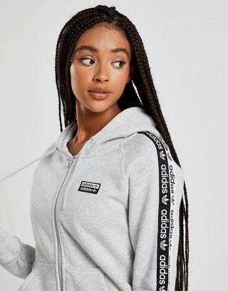 adidas Originals Sweat à capuche Tape Polaire Zippé Femme