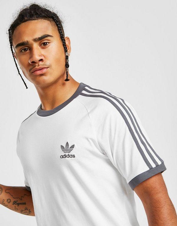 adidas Originals 3-Stripes California Short Sleeve T-Shirt ...