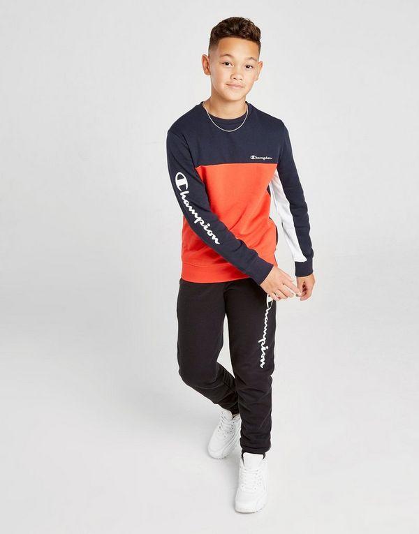 Champion Colour Block Fleece Crew Sweatshirt Junior