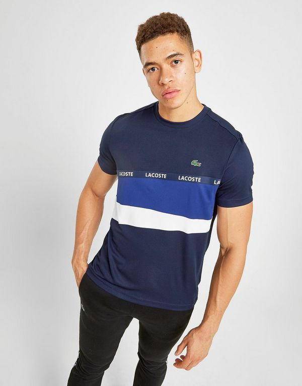 Lacoste Colour Block Tape T-Shirt Heren