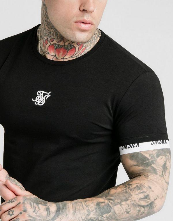 SikSilk Logo Tech Tape T-Shirt Heren