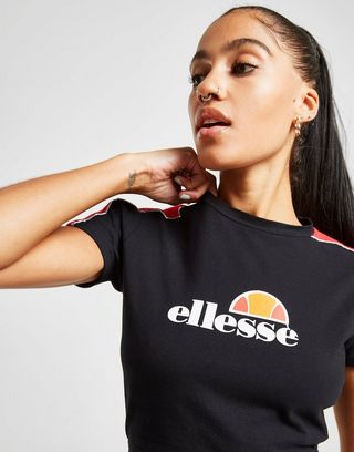 Ellesse Piping Slim Crop T-Shirt