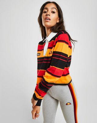 Ellesse Stripe Crop Rugby Shirt
