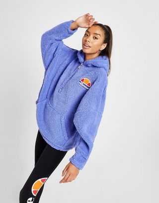 great variety models hoard as a rare commodity big discount of 2019 Ellesse Logo Sherpa 1/4 Zip Hoodie | JD Sports Ireland
