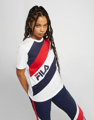Fila Multi Stripe Boyfriend T-Shirt