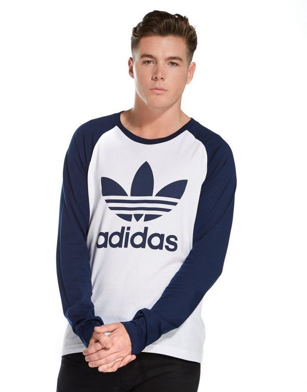 Adidas originals trefoil longsleeve t shirt jd sports for Adidas long sleeve t shirt with trefoil logo
