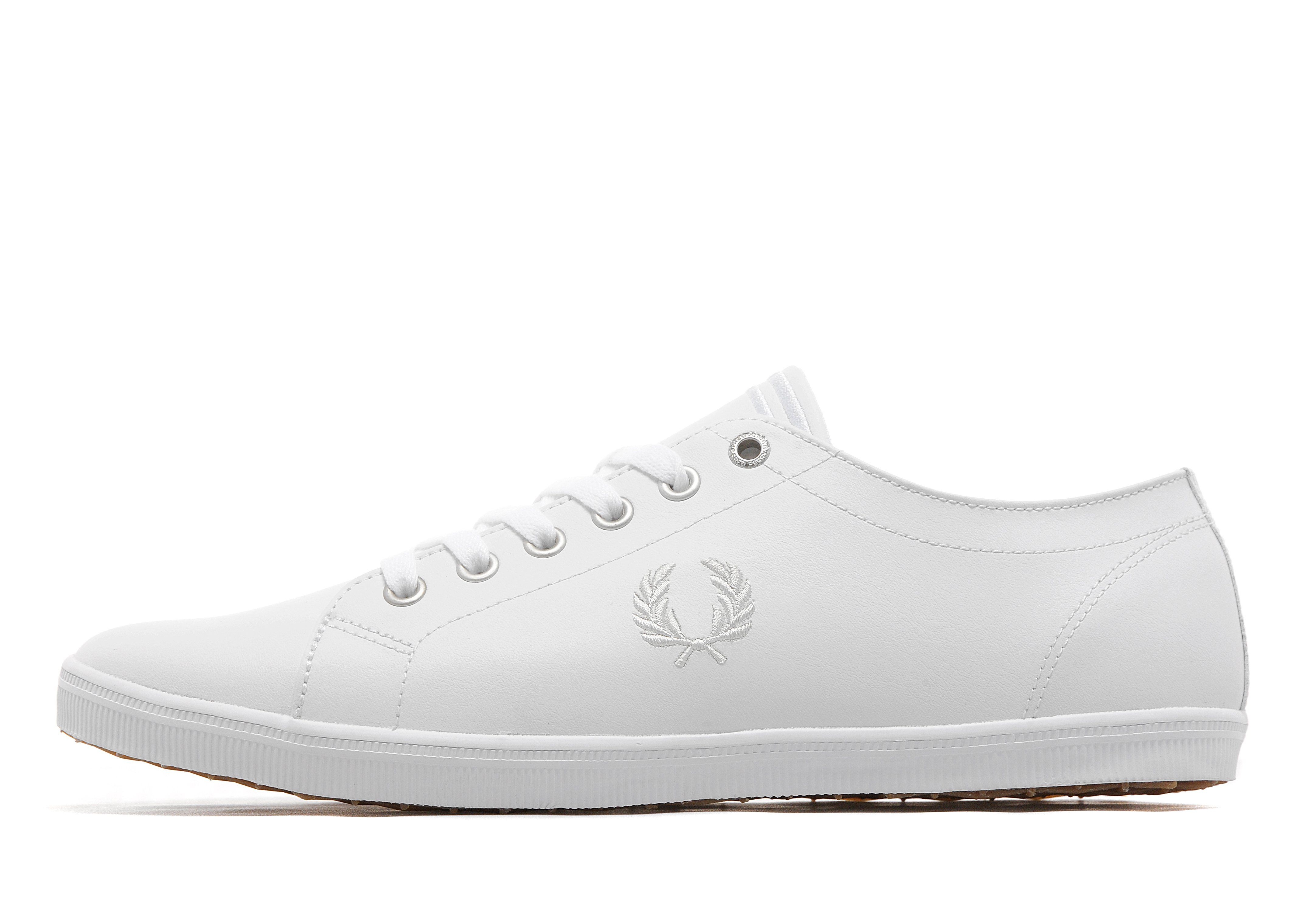Kingston White Leather Trainers - White/white Fred Perry