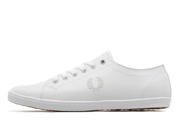 Kingston White Leather Trainers - White/white Fred Perry HUX0TA