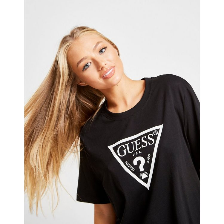 Guess Logo T-Shirt Dames zwart