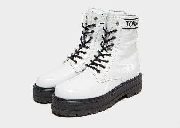 cd0cb28e370 Tommy Jeans Patent Platform Boots Women's   JD Sports Ireland