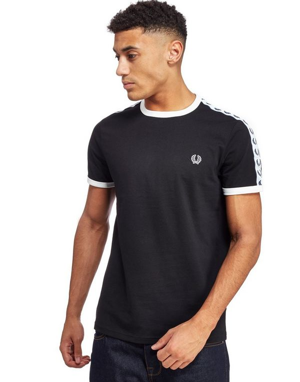 fred perry taped retro ringer t shirt jd sports. Black Bedroom Furniture Sets. Home Design Ideas