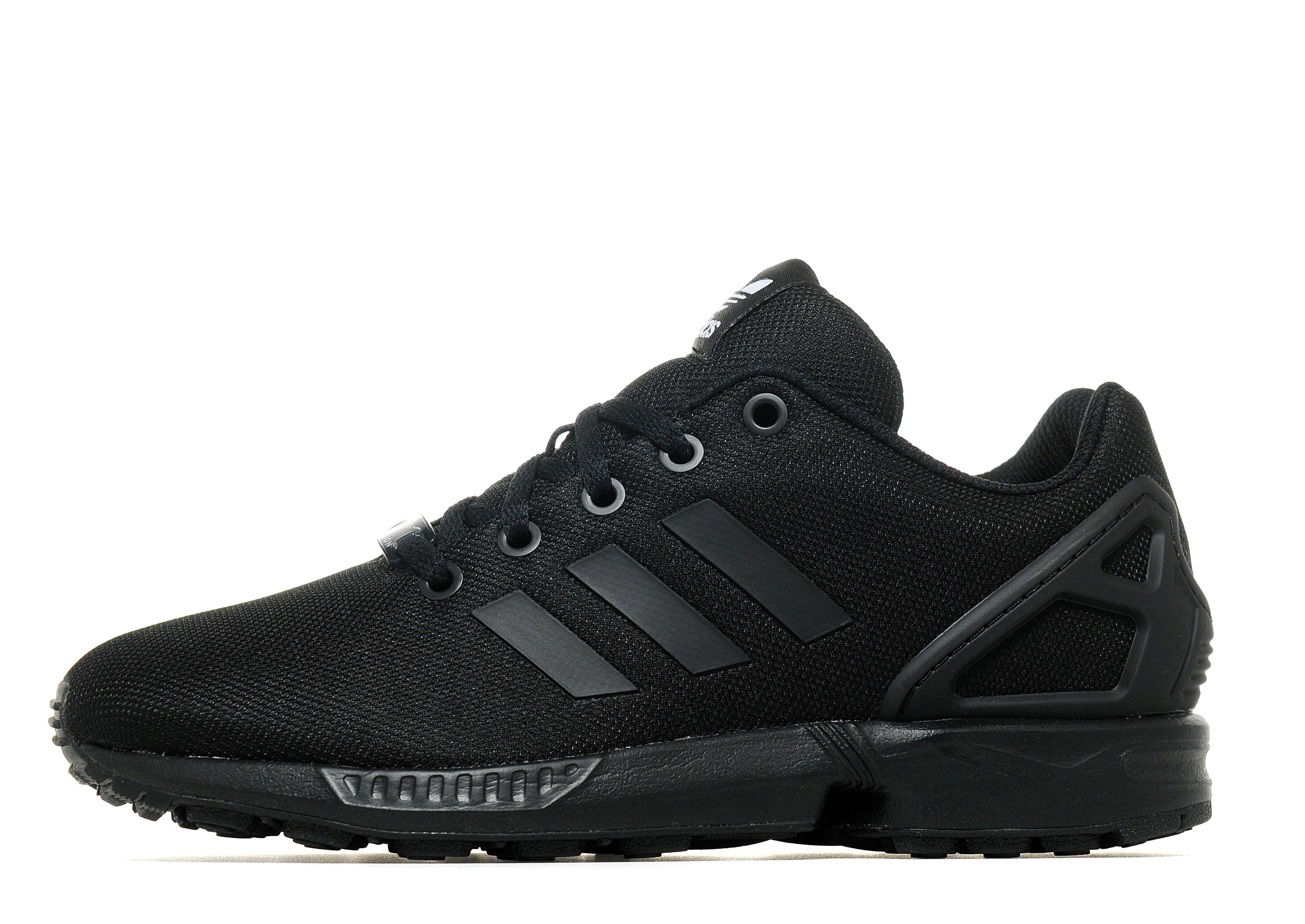 Black Unisex Adidas Zx Flux Core Shoes