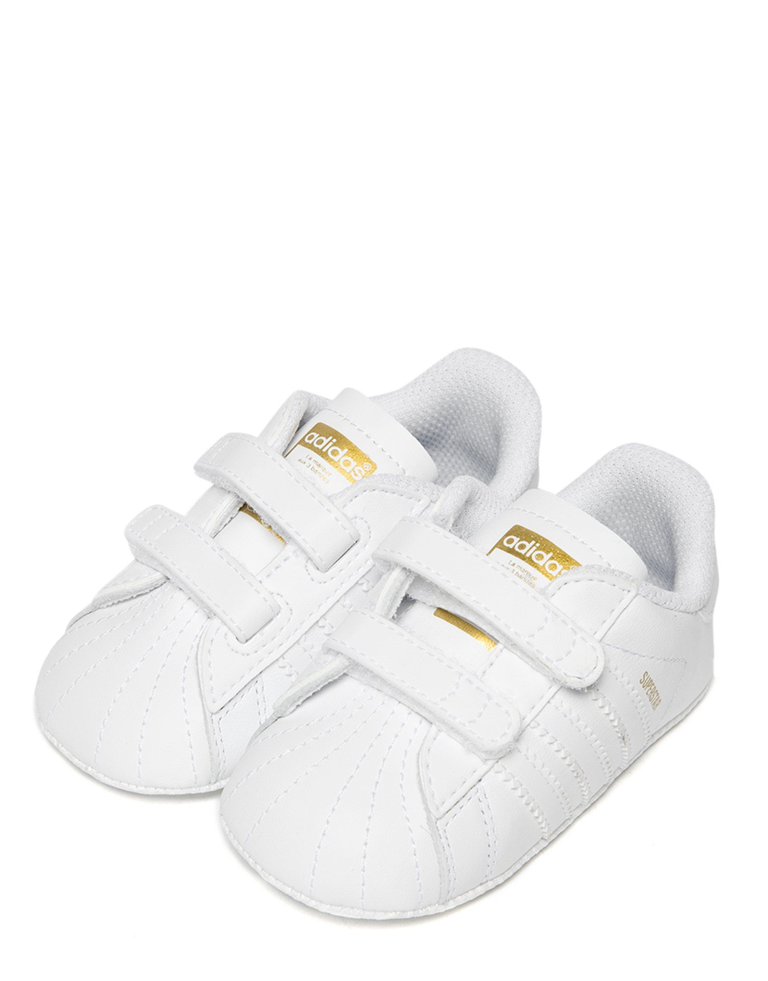 adidas originals superstar shelltoe baby girls white pink crib shoe ... 0a016d532