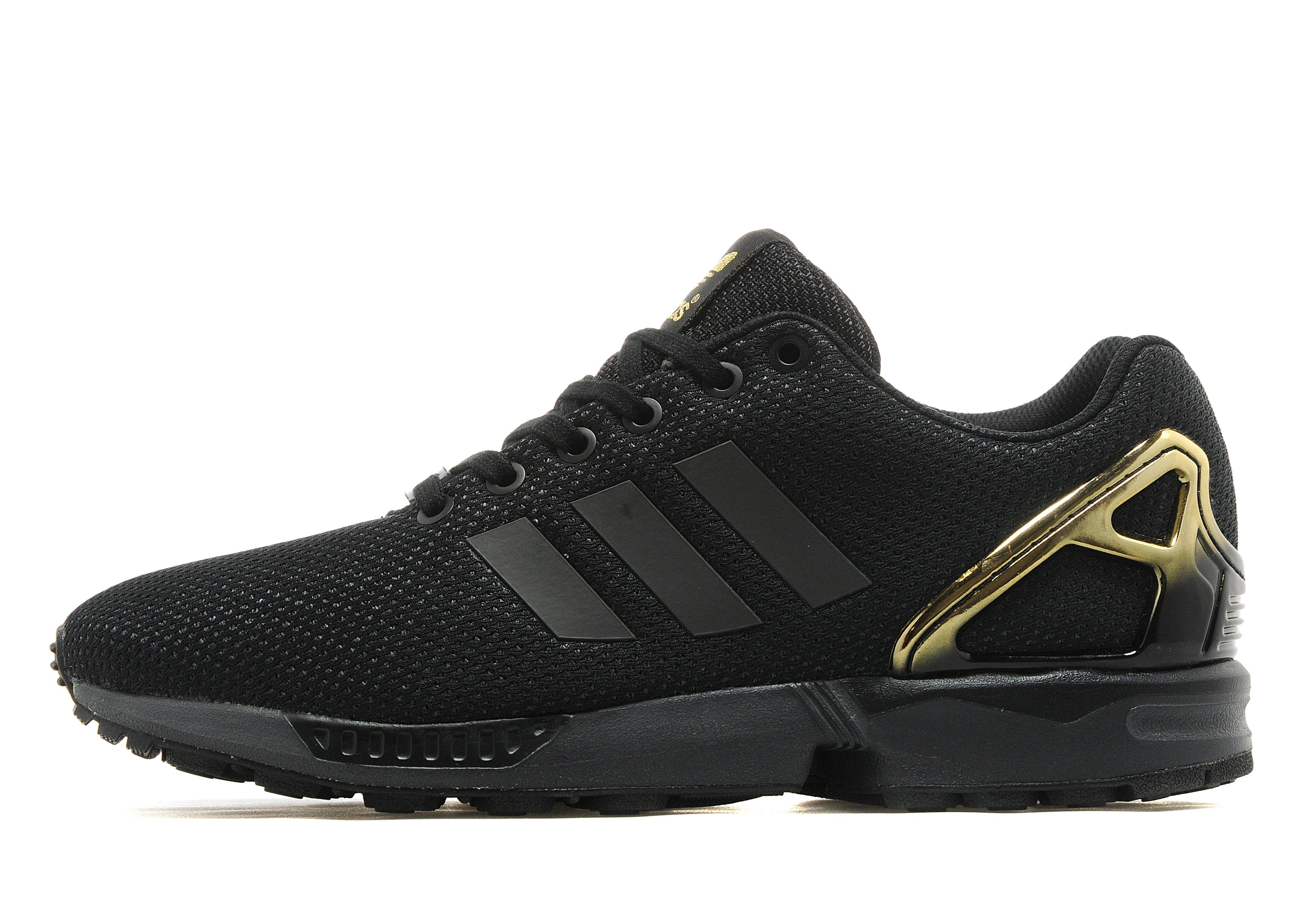 Adidas Zx Flux Black And Gold Adidasoutlettrainers.co.uk