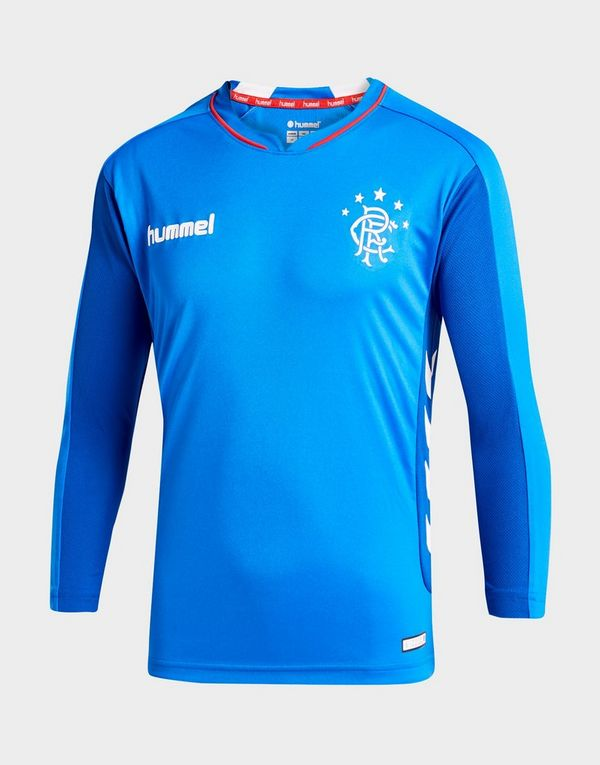 aea8a7f5aa95 Hummel Rangers FC 2018 19 Long Sleeve Home Shirt Junior