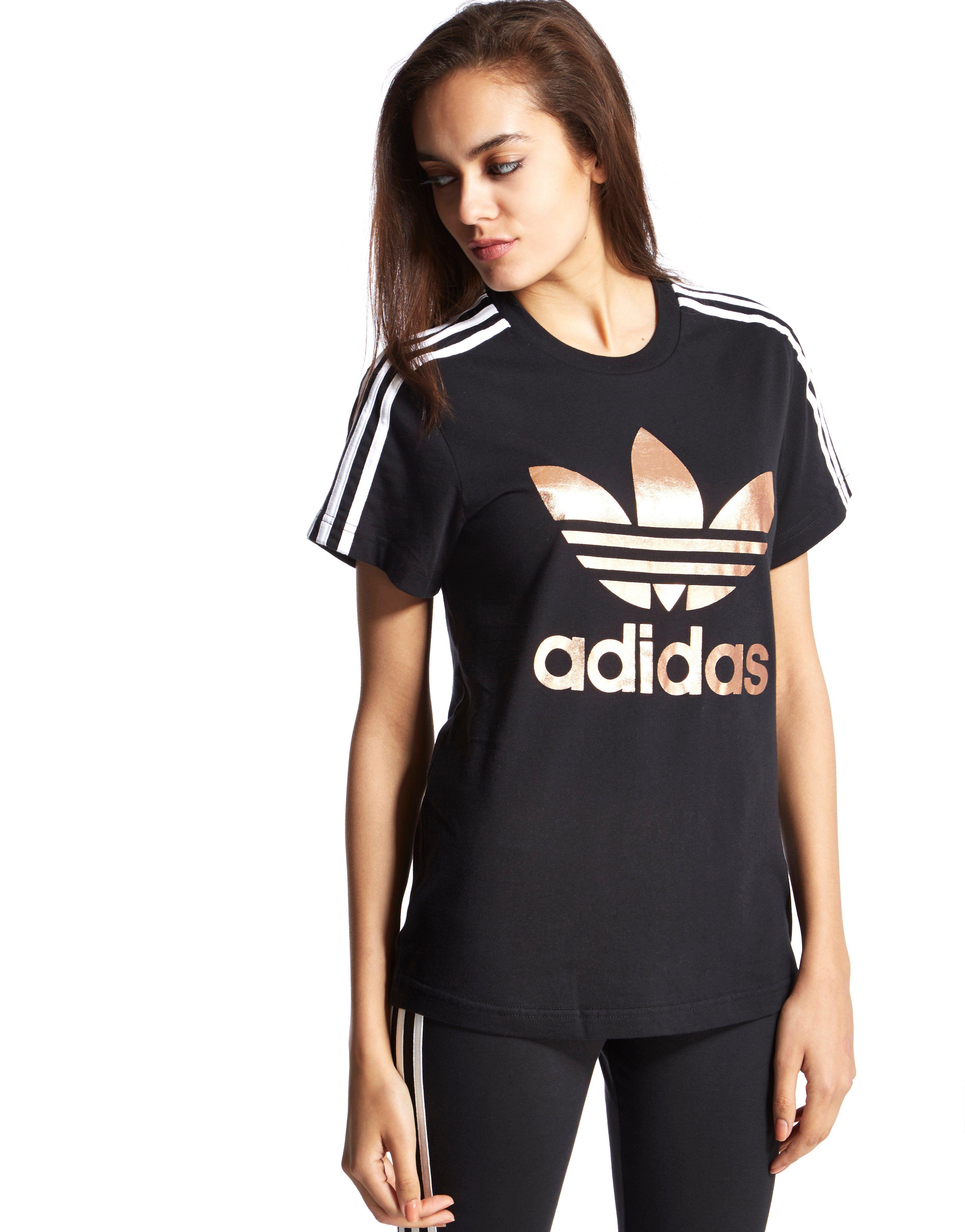 adidas originals 3 stripes trefoil t shirt jd sports