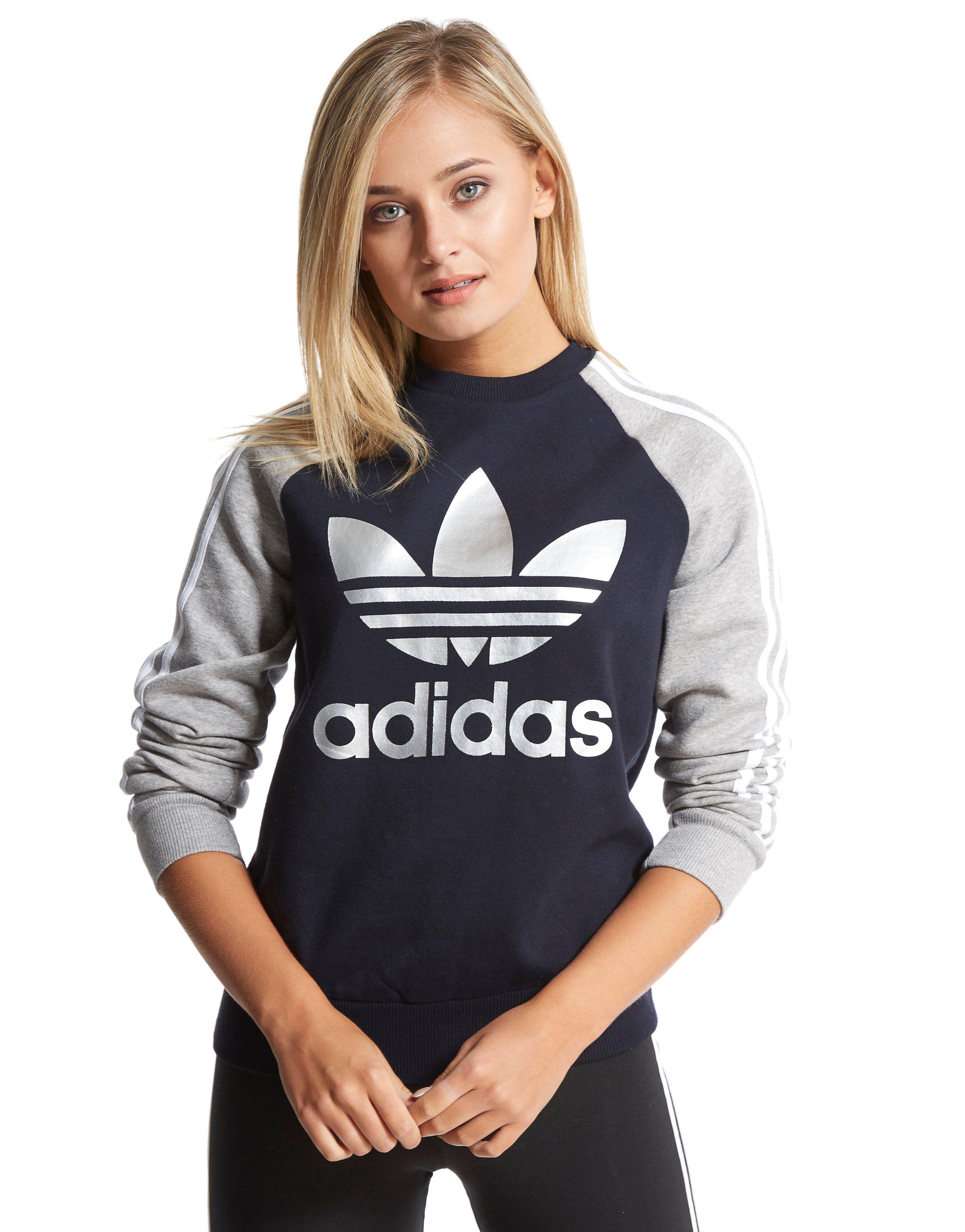 adidas Originals 3-Stripes Crew Sweatshirt