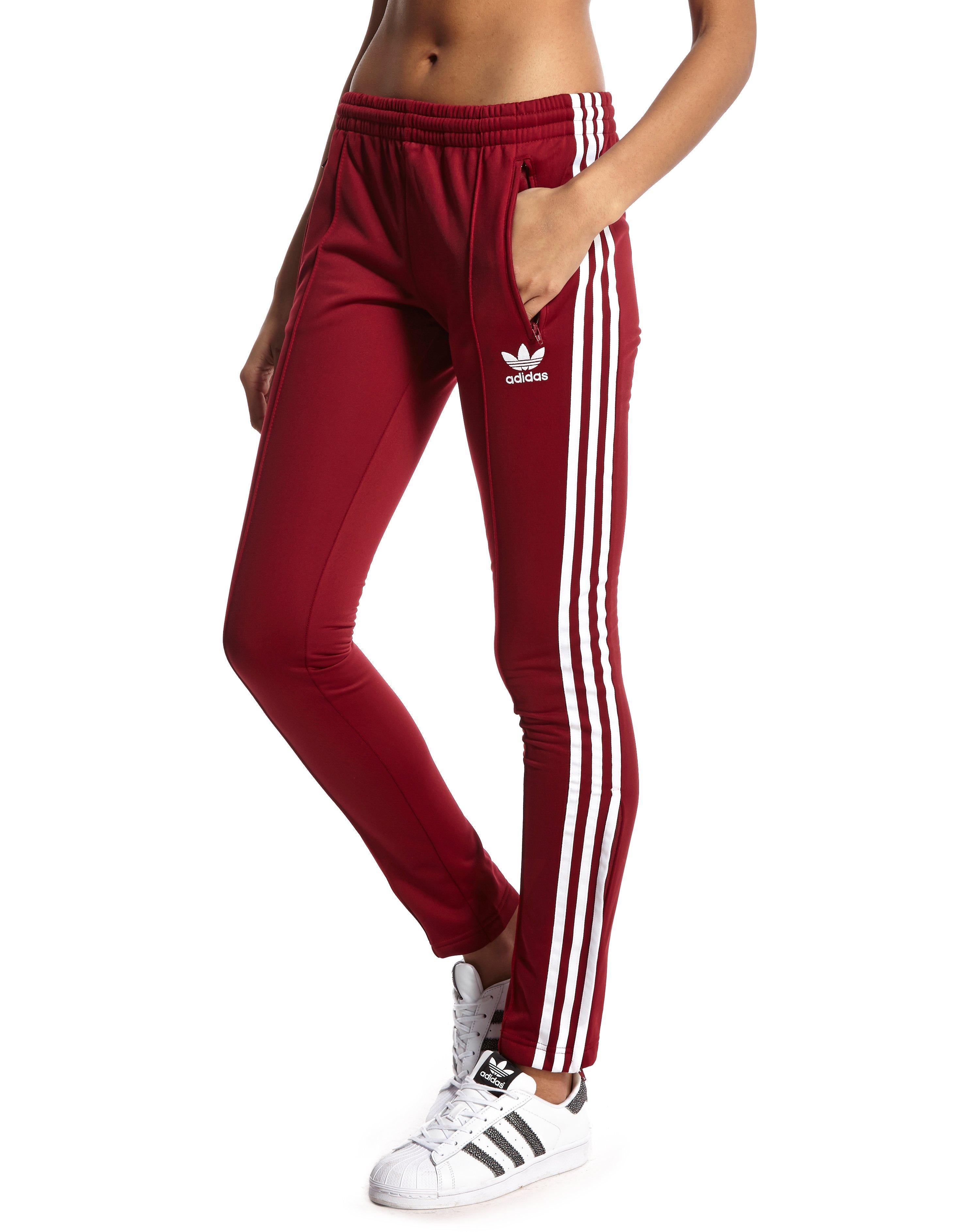 burgundy adidas pants
