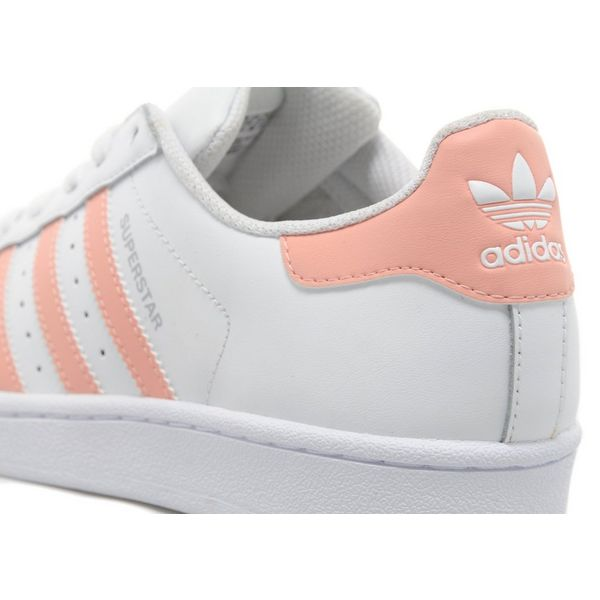 Adidas Superstar White And Pink Stripes