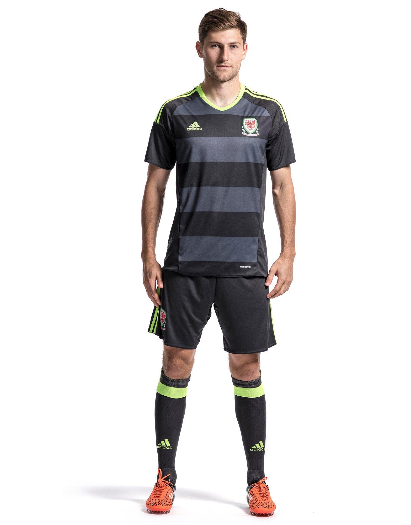 Black adidas FA Wales Away 2016 Shirt