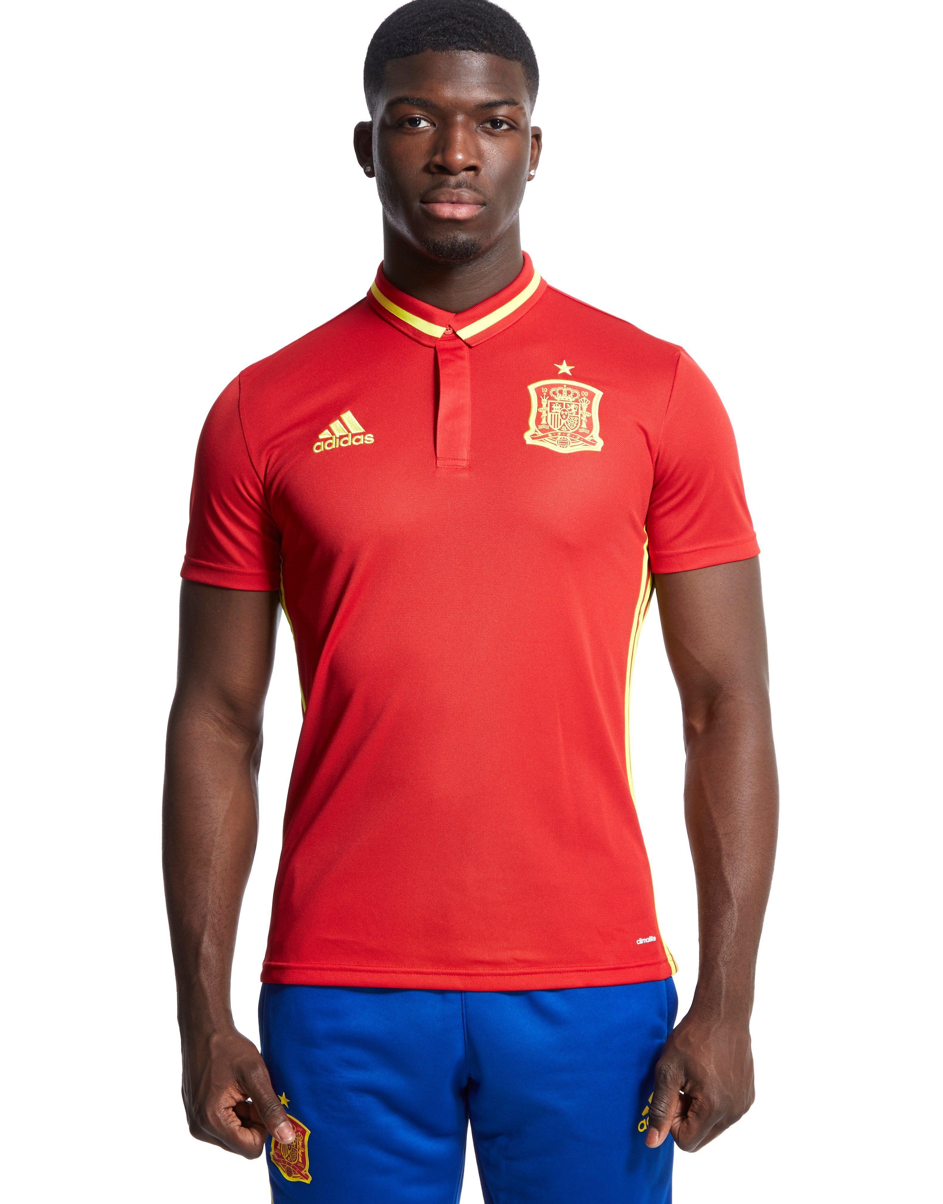 Adidas spain climalite polo shirt jd sports for Spain polo shirt 2014