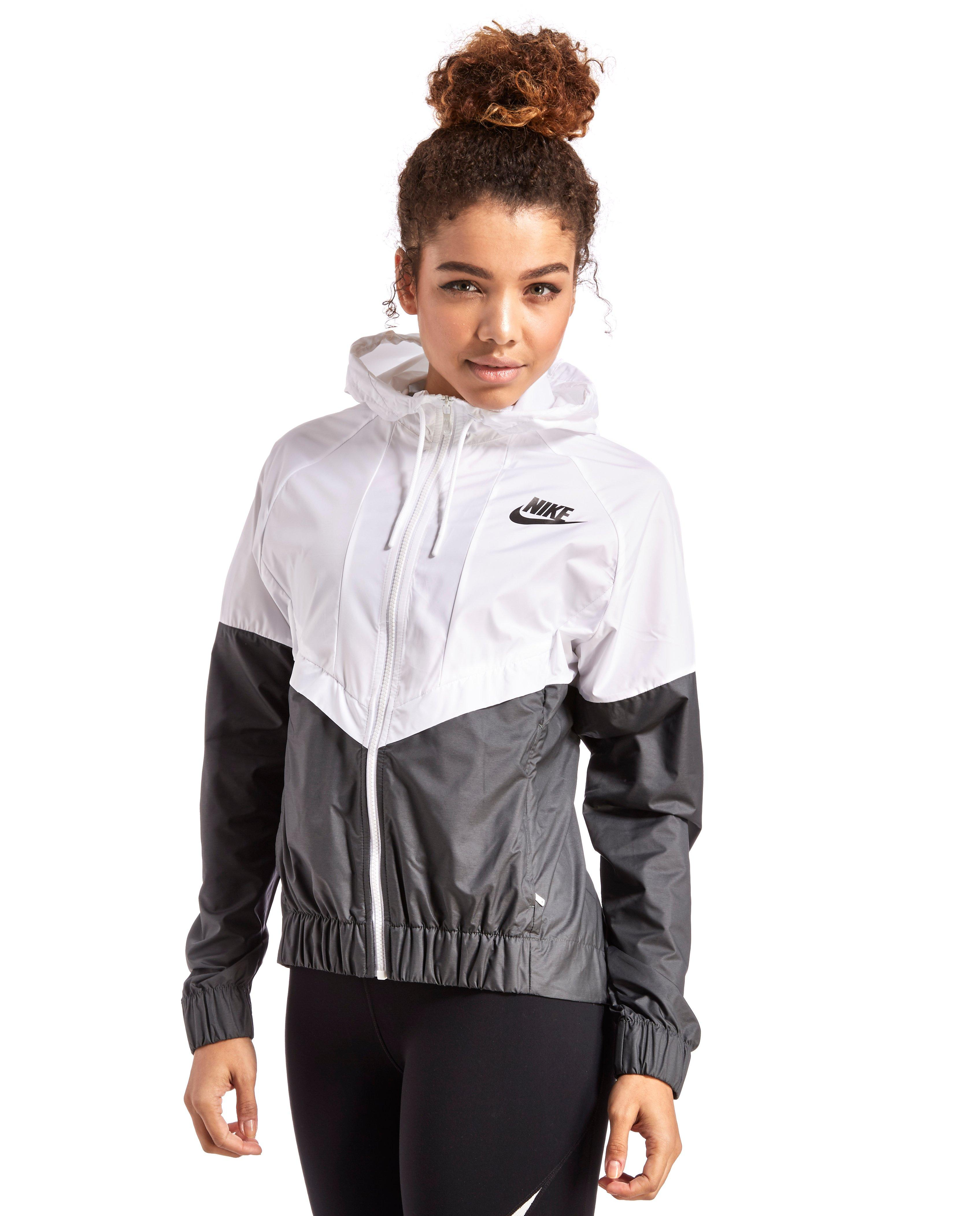 Black and white womens nike wind runner jacket