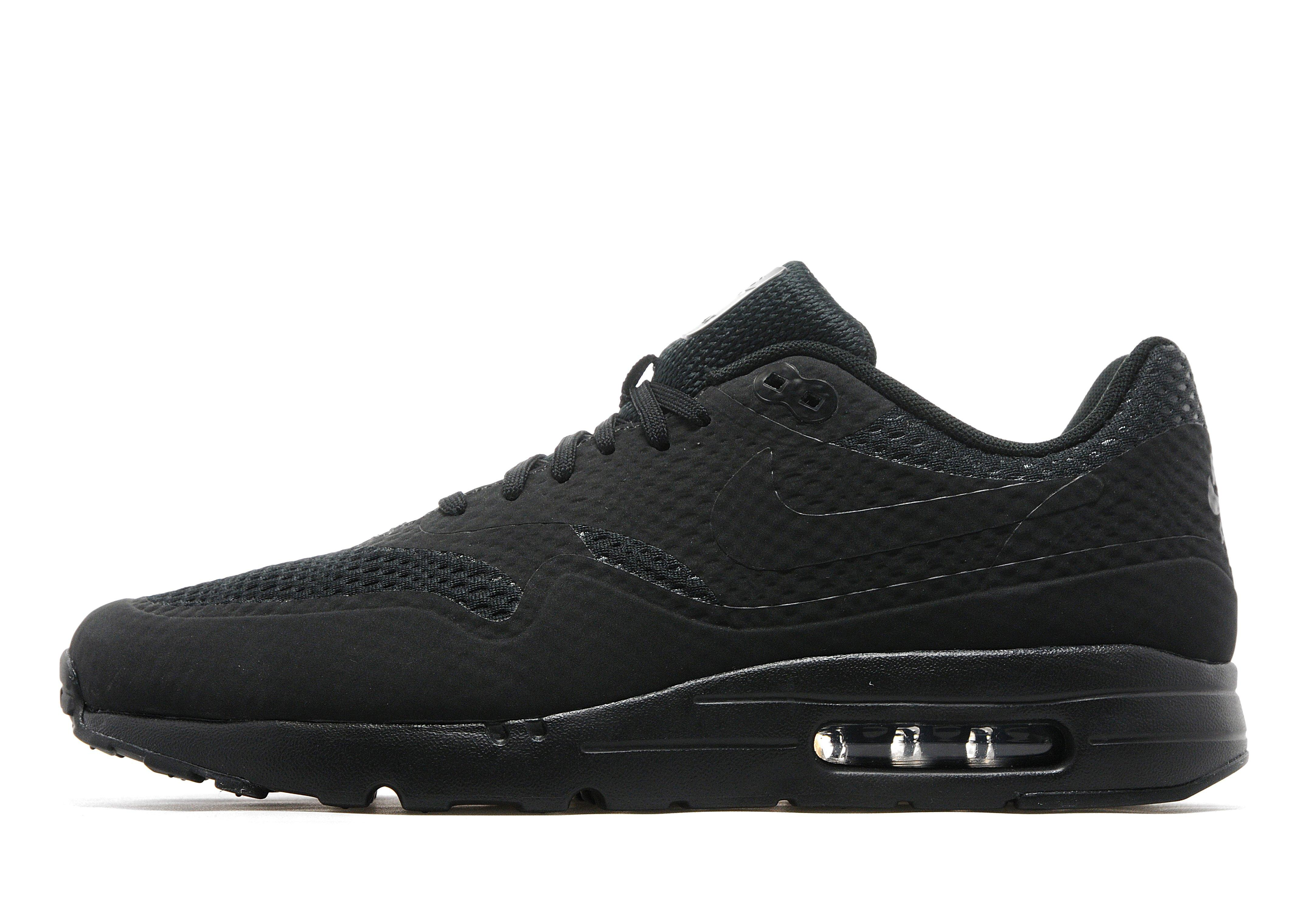 mens nike air max 1 ultra essentials black/uk