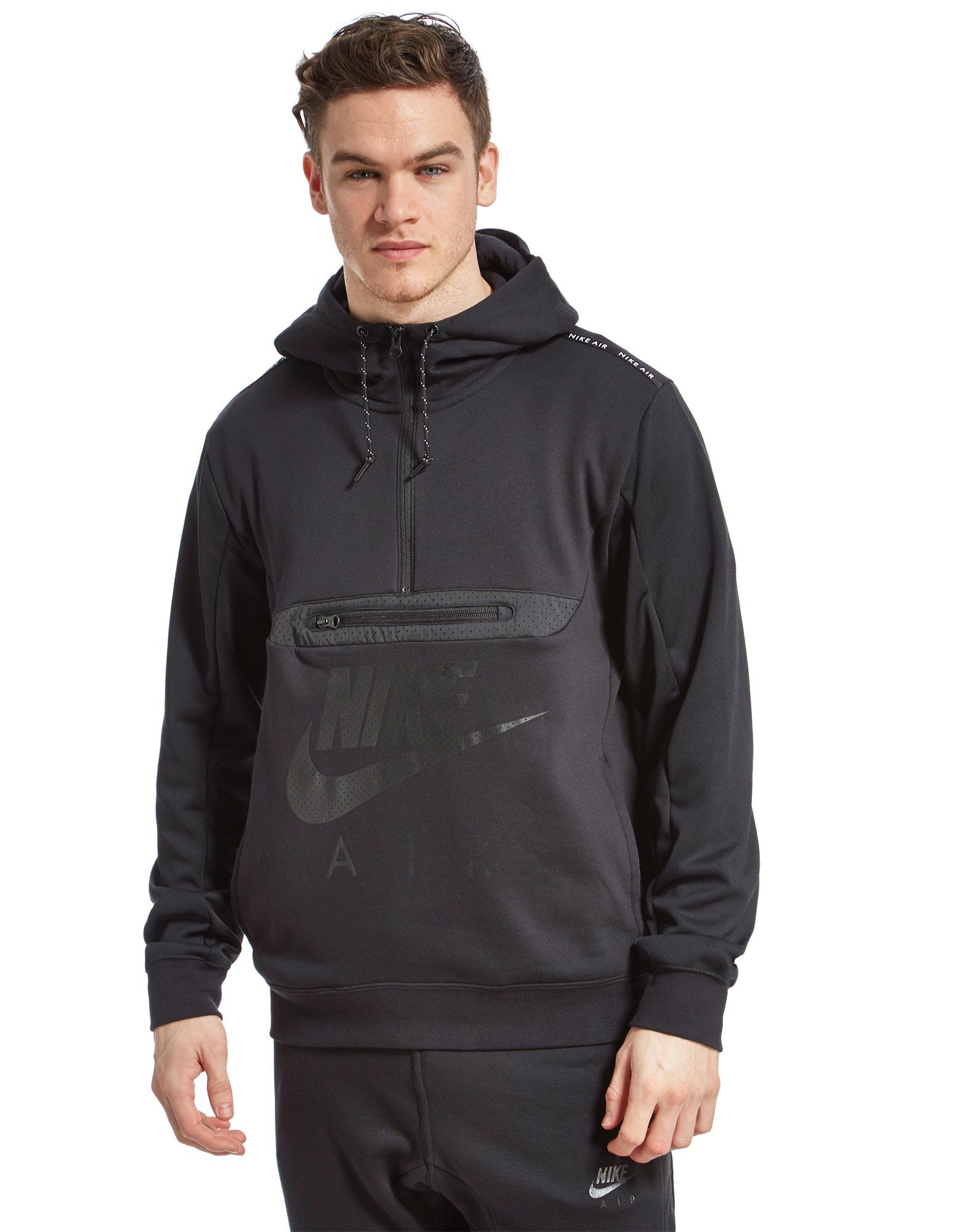 Nike Air Fabric Mix Half Zip Hoody | JD Sports