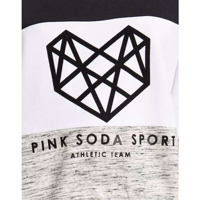 Pink Soda Sport Panel Crew Sweatshirt