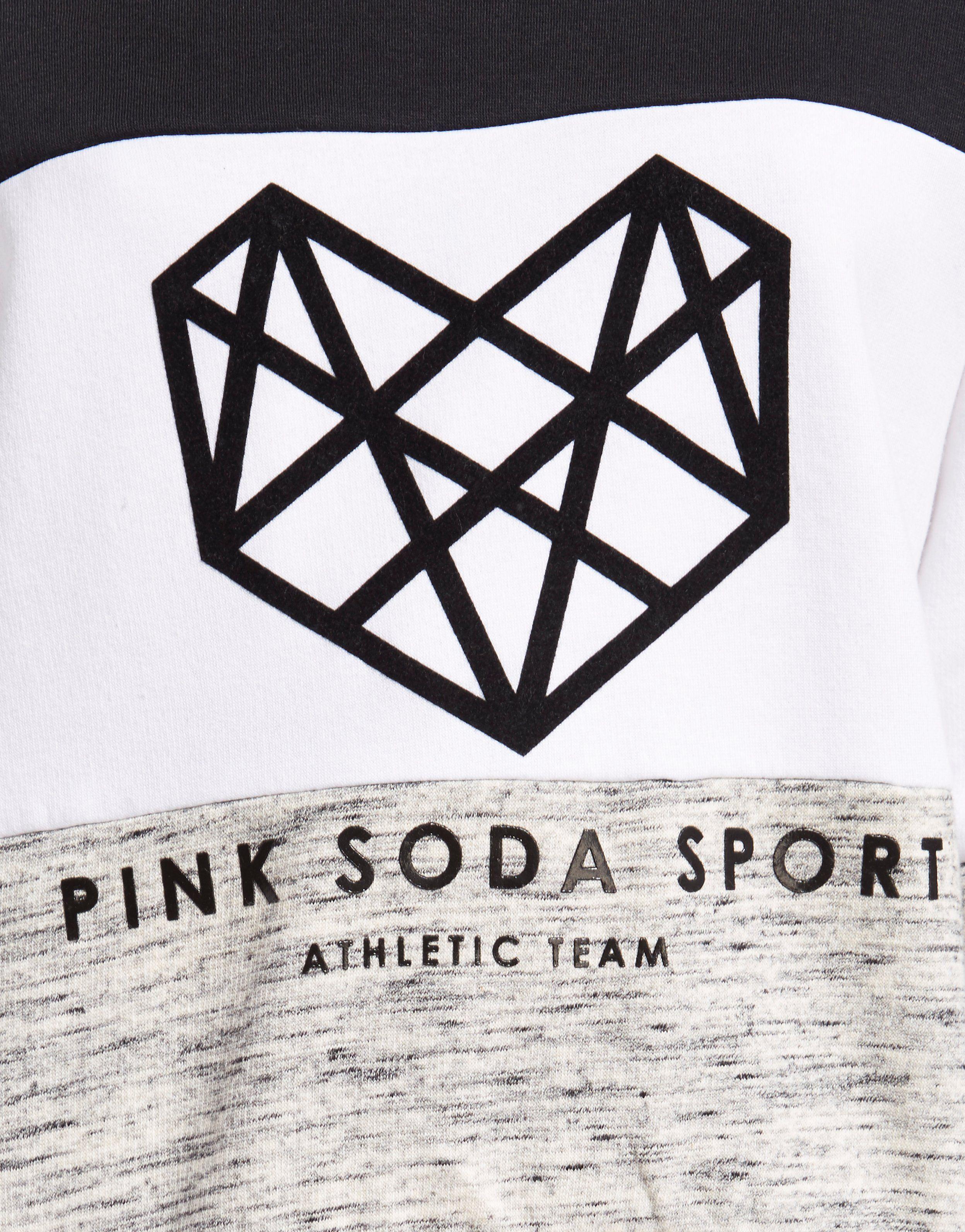 Pink Soda Sport Panel Crew Sweatshirt