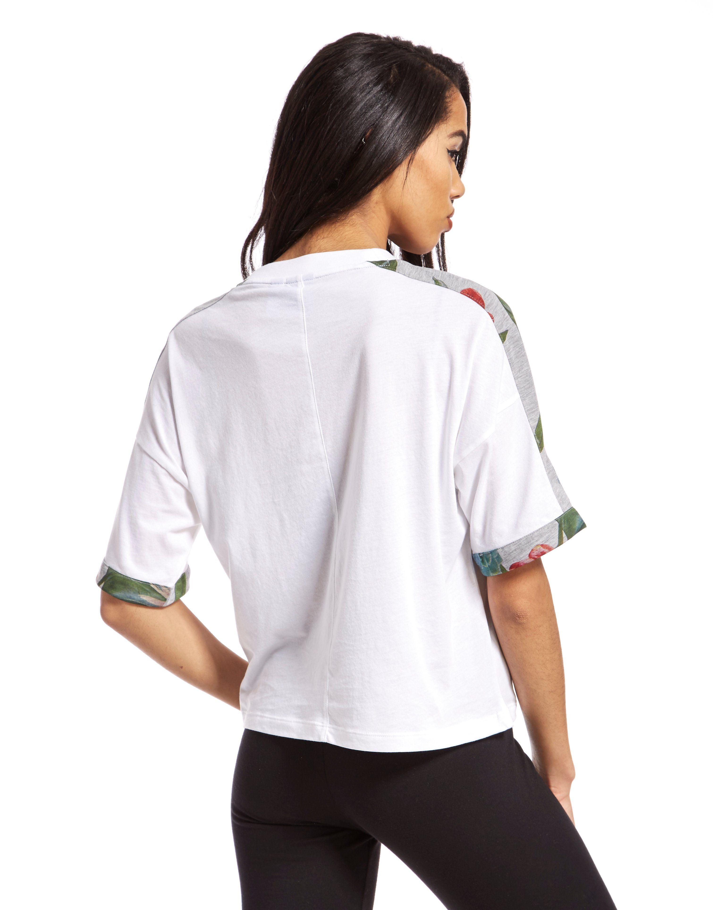 adidas Originals Floral Crop T-Shirt