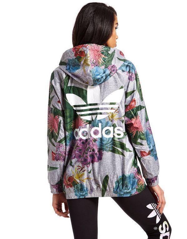 adidas originals training jacket floral jacket jd sports. Black Bedroom Furniture Sets. Home Design Ideas