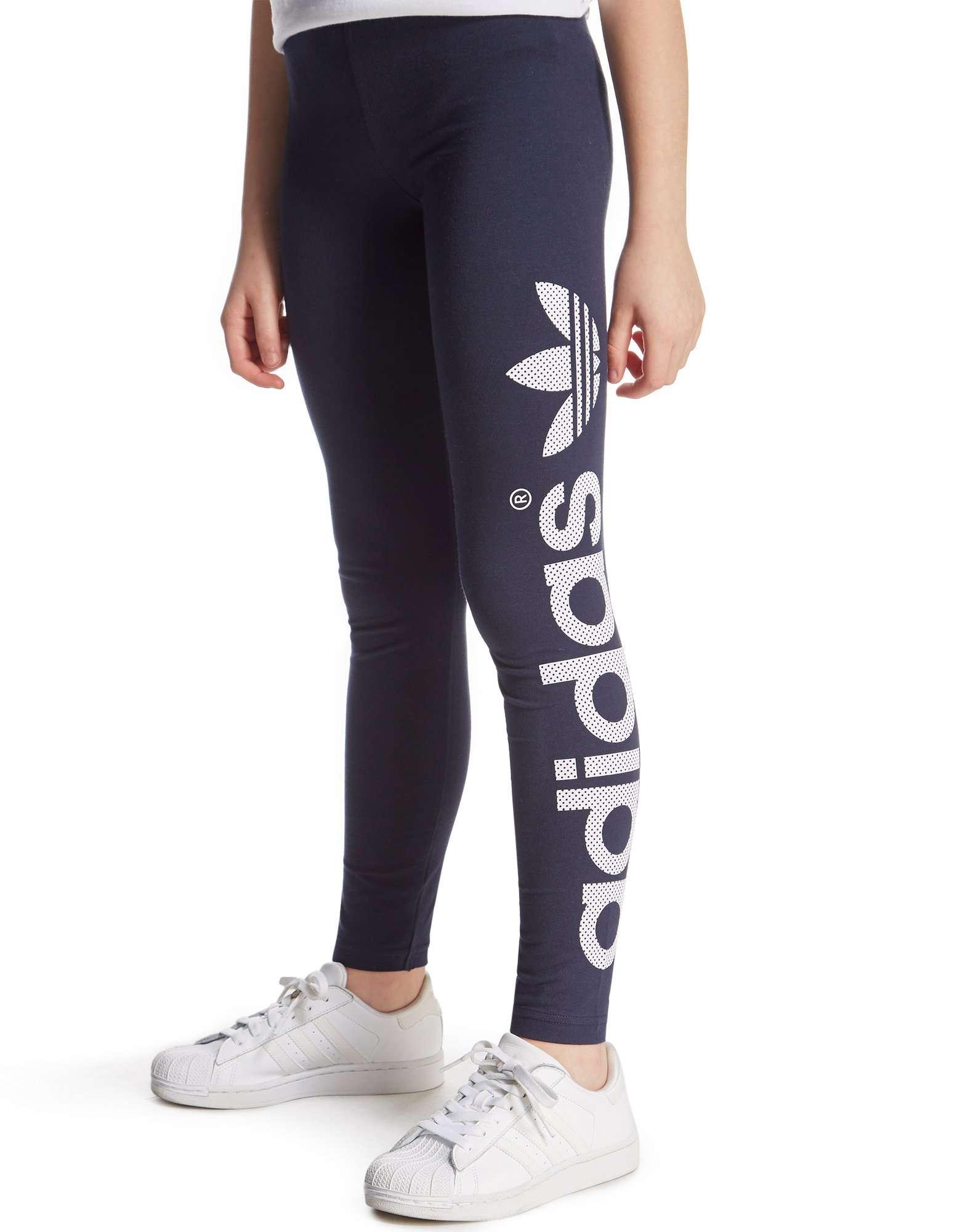 adidas originals girls tight leggings junior jd sports. Black Bedroom Furniture Sets. Home Design Ideas