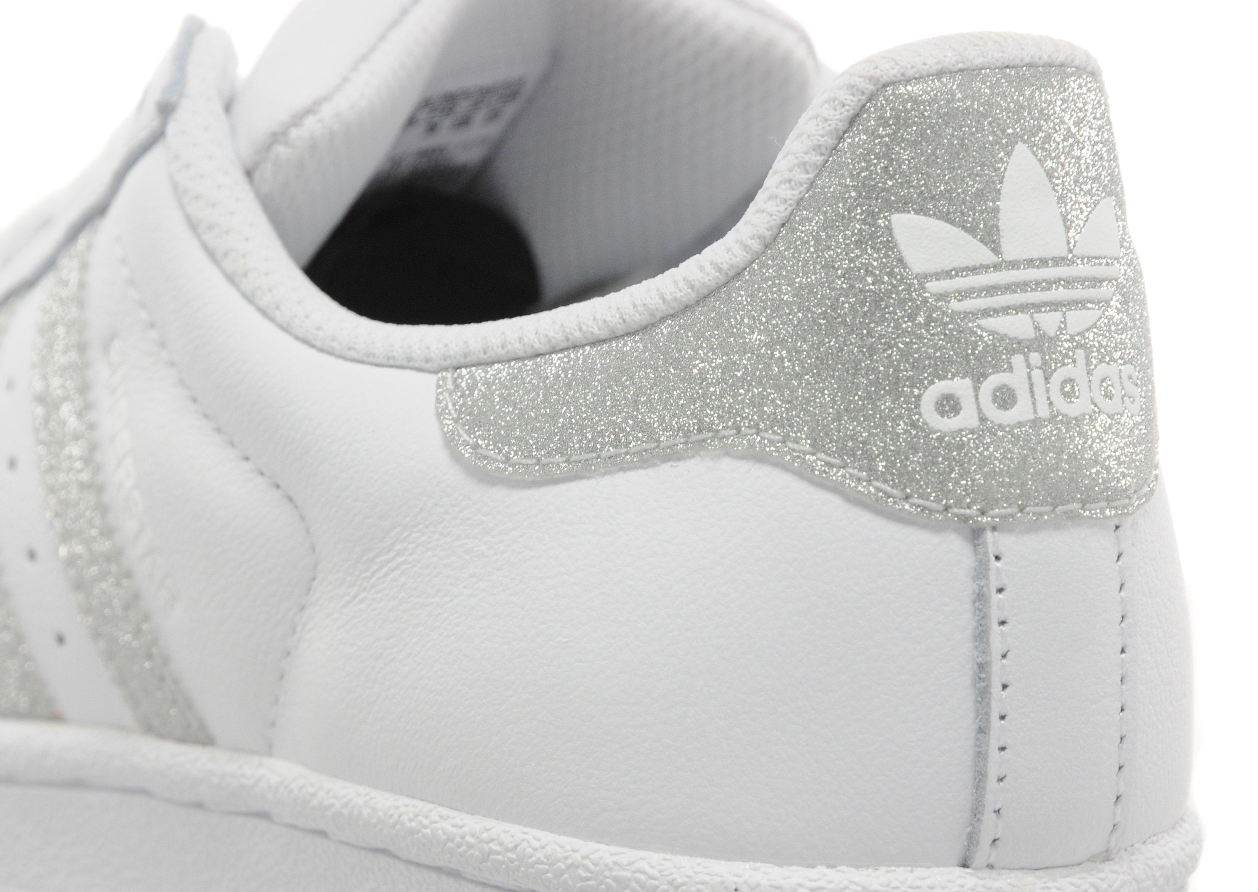 adidas superstar white and silver glitter. Black Bedroom Furniture Sets. Home Design Ideas