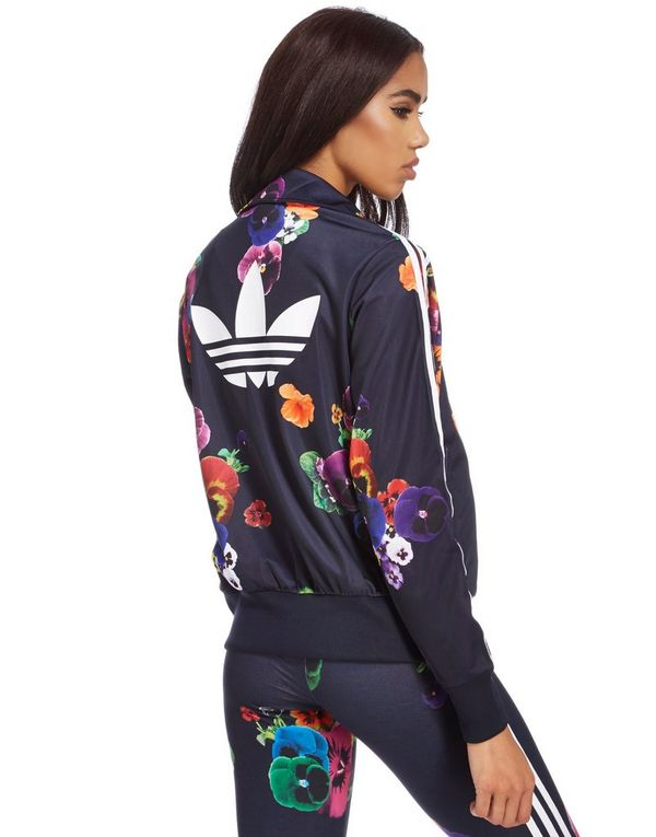 adidas firebird flower track top