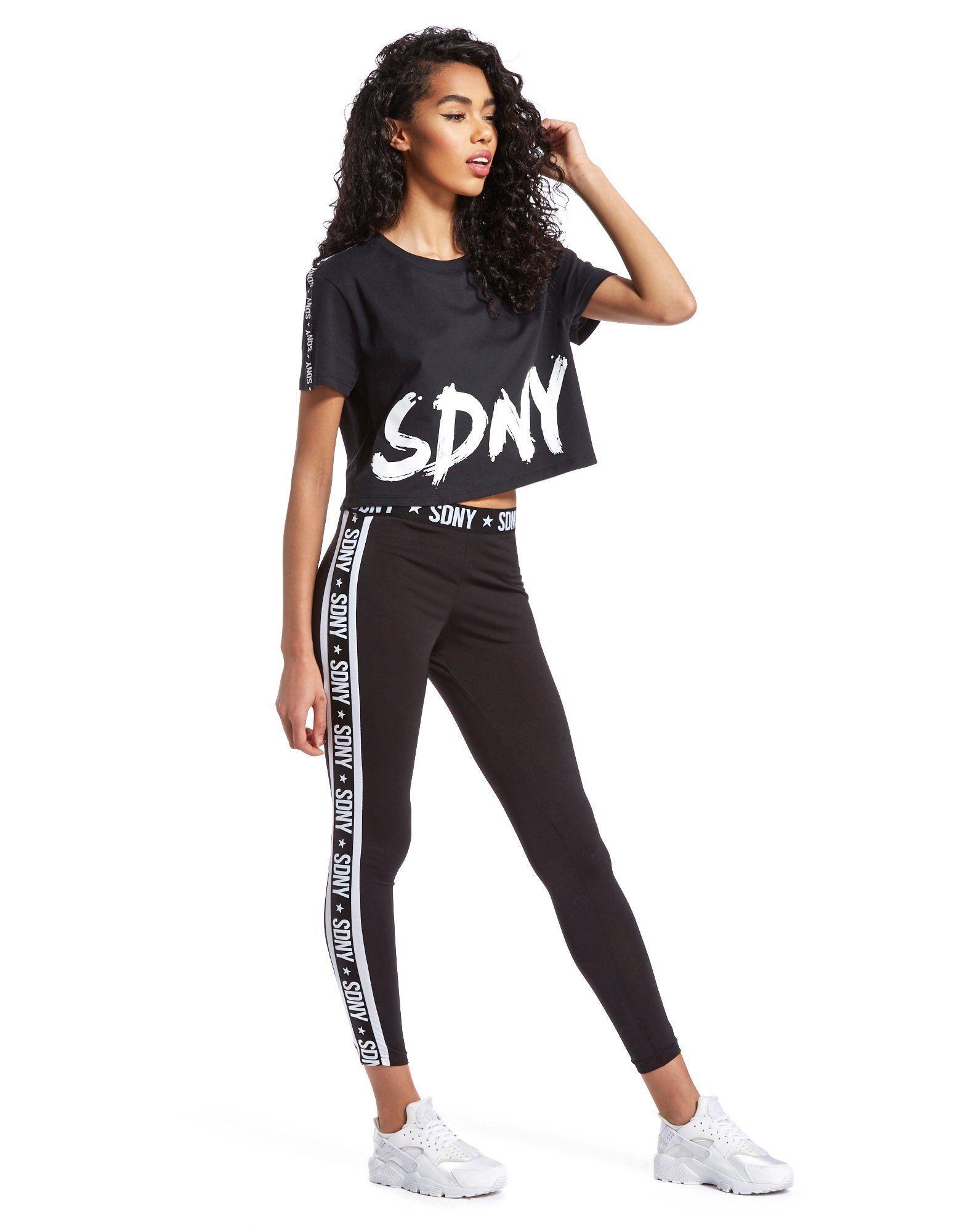 Supply & Demand Scribble Crop T-Shirt