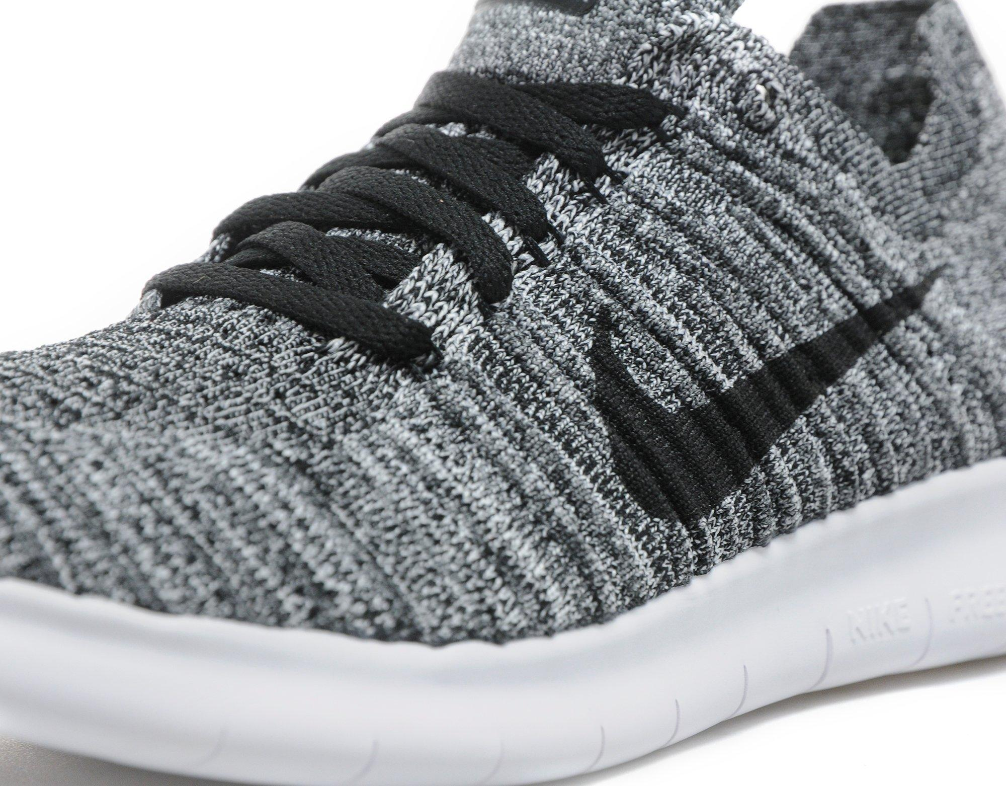 womens nike free run flyknit grey/black