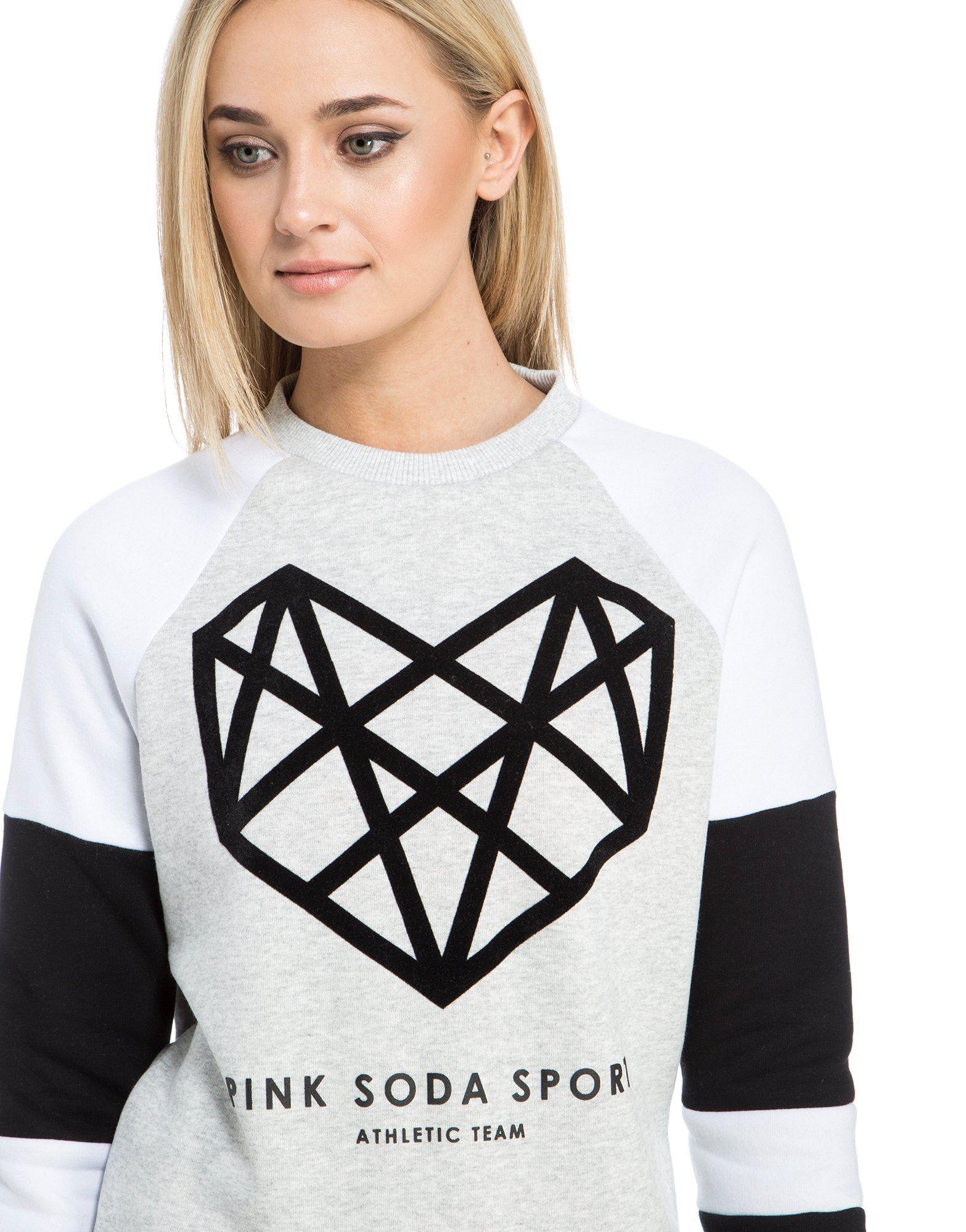 Pink Soda Sport Contrast Panel Sweatshirt