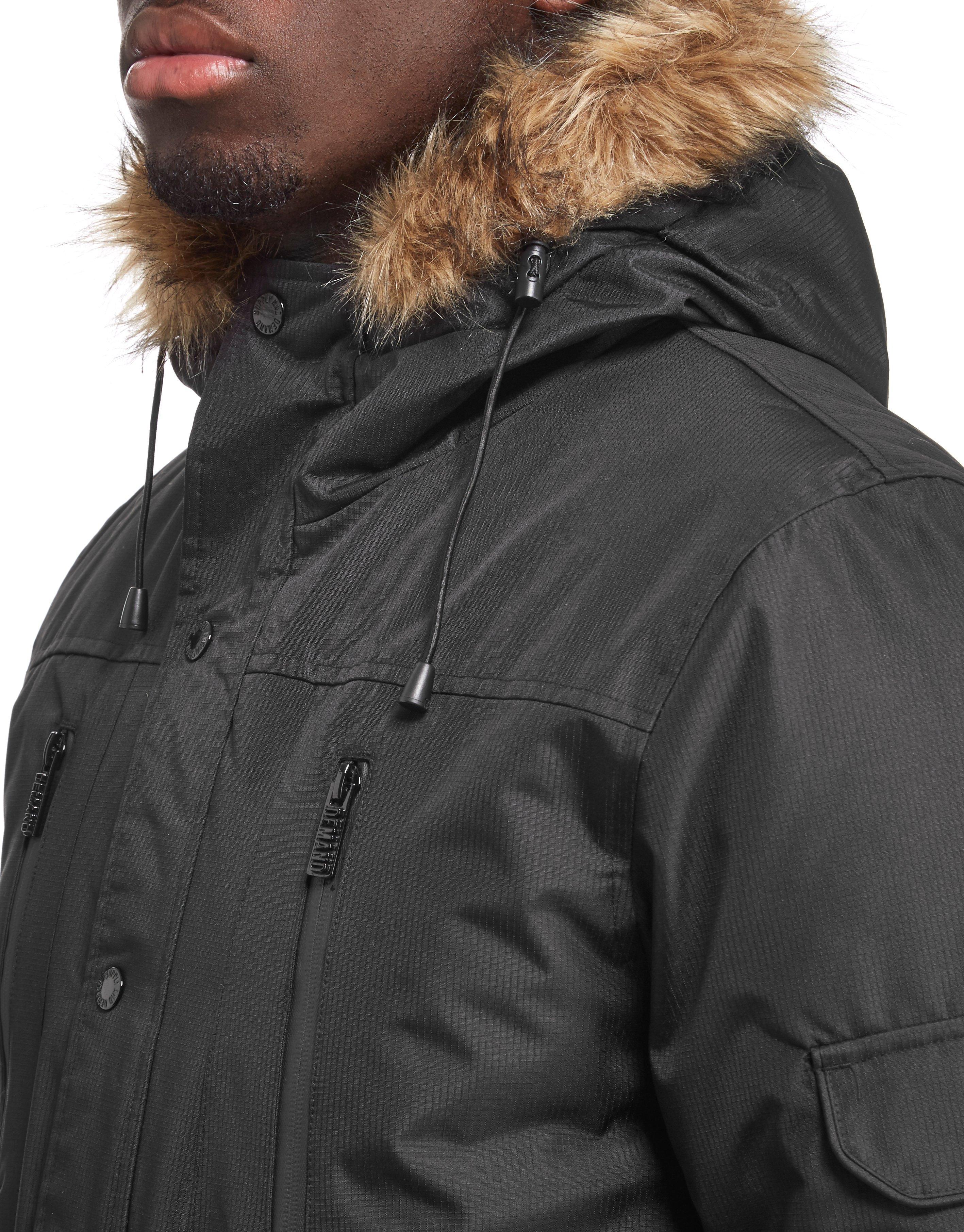 Supply and demand black parka jacket
