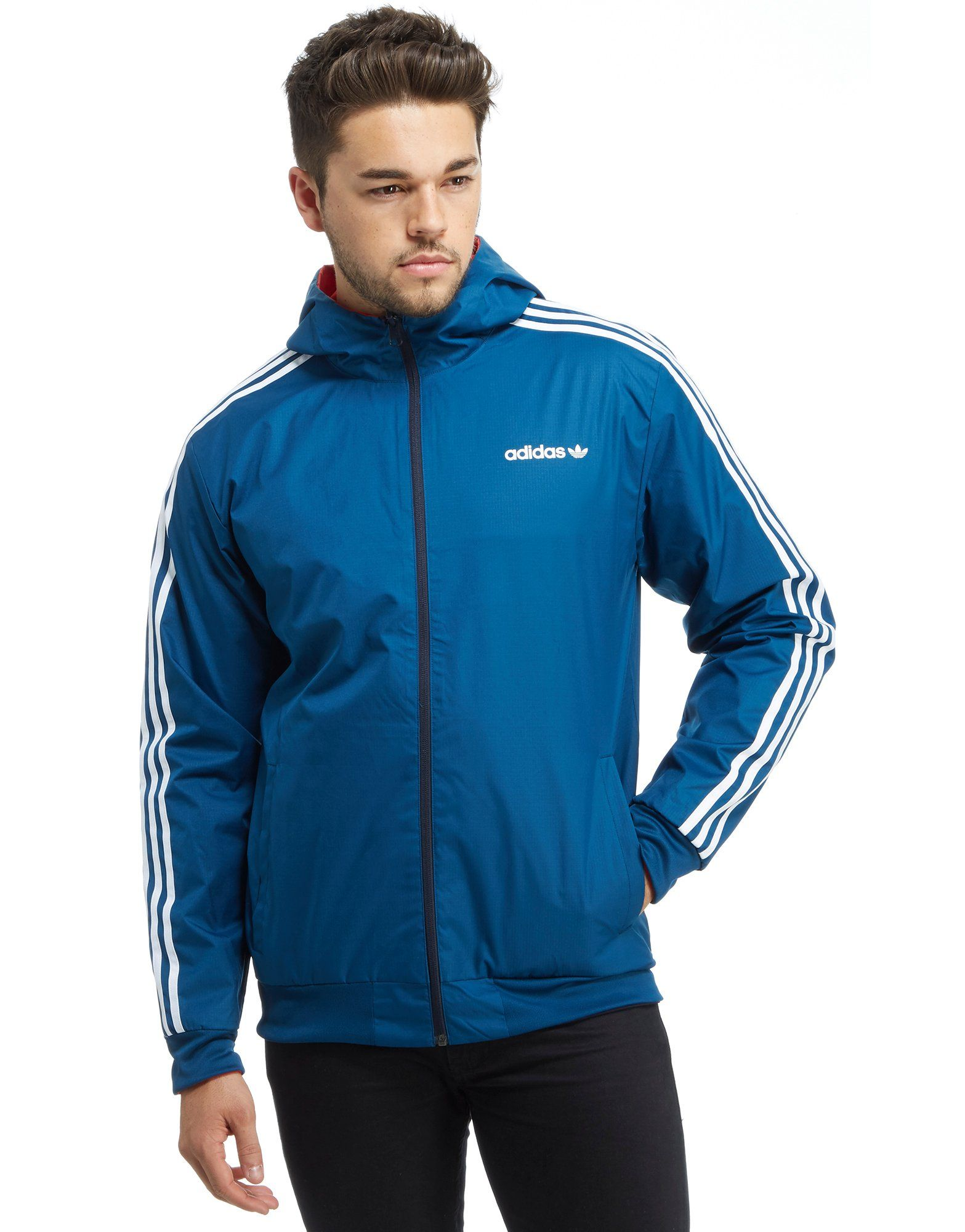 adidas Originals Itasca Collection Reversible Windbreaker Jacket ...