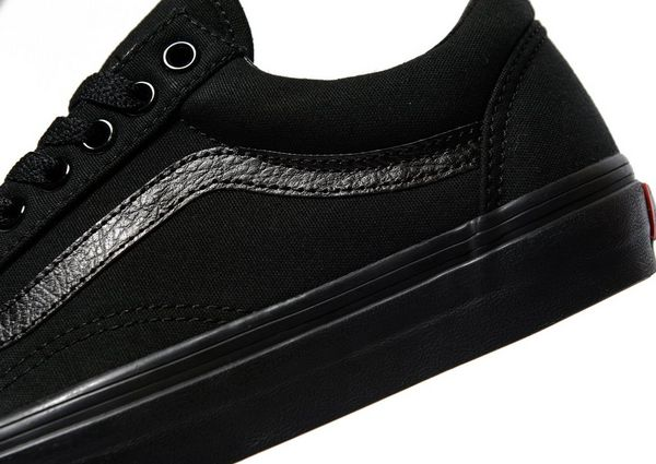 women's all black old skool vans