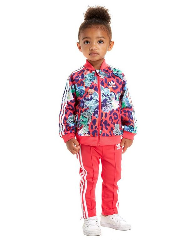 adidas Originals Girls' FARM All-Over Print Suit Infant