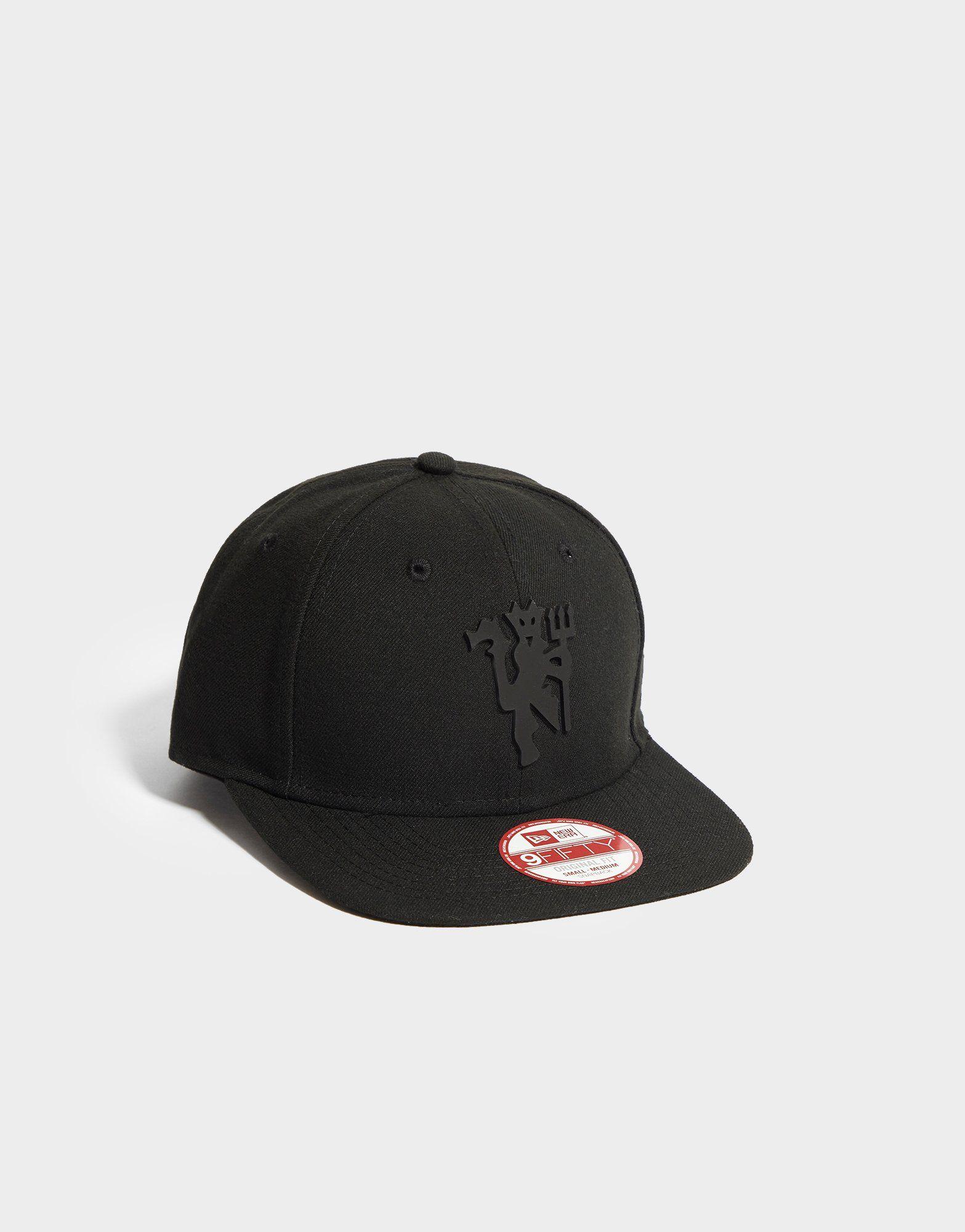 New Era Manchester United Black On Black Snapback Cap