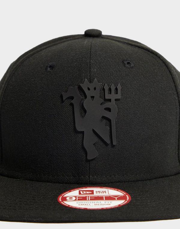 d83ef972753 New Era Manchester United Black On Black Snapback Cap