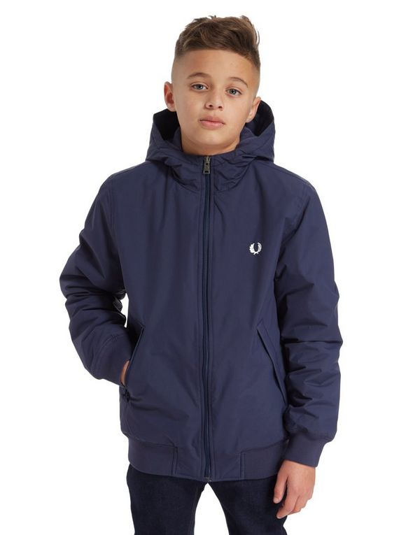fred perry hooded bomber jacket junior jd sports. Black Bedroom Furniture Sets. Home Design Ideas