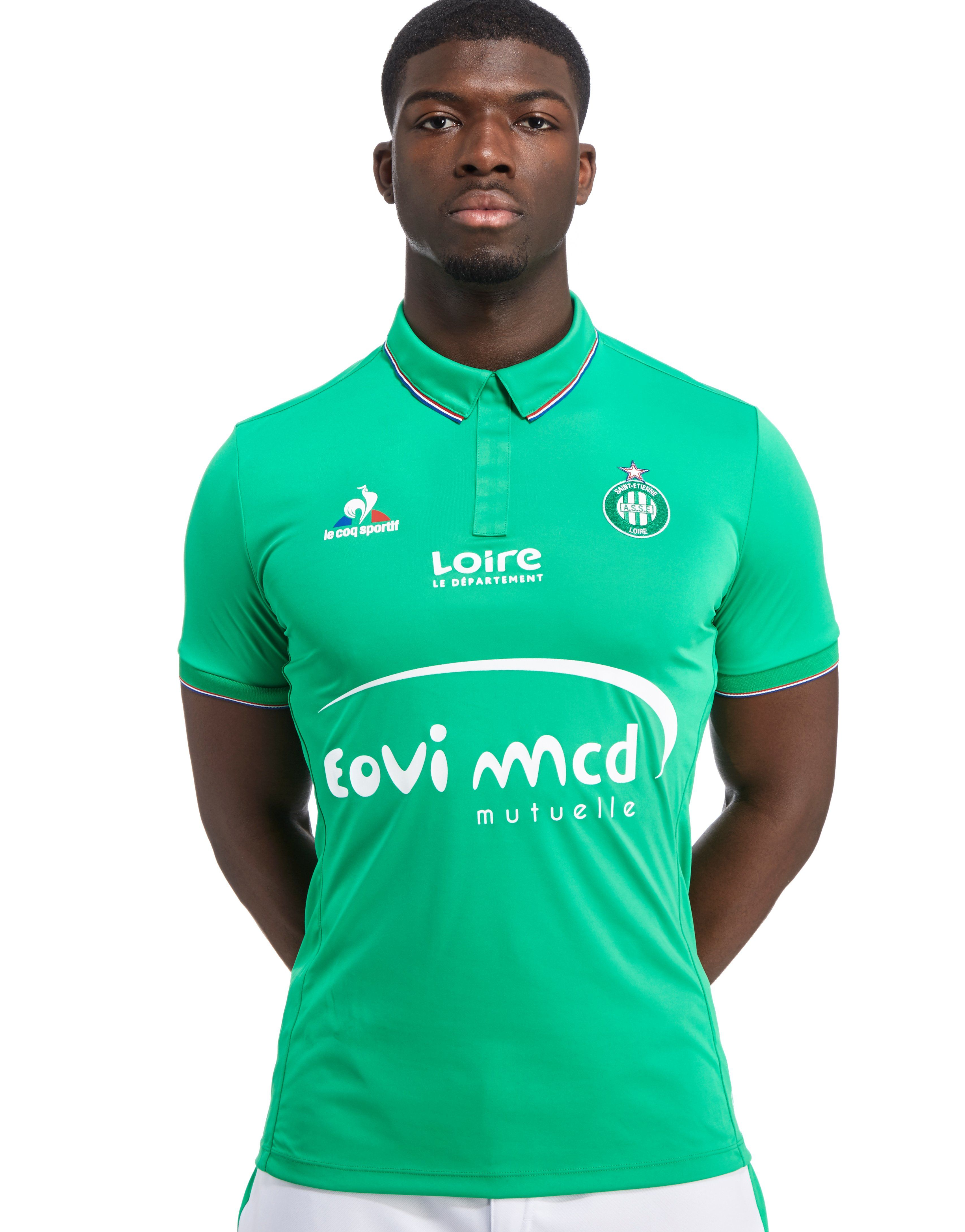 e8779ab63b393 Le Coq Sportif AS Saint Etienne 2016/17 Home Shirt | JD Sports outlet ...