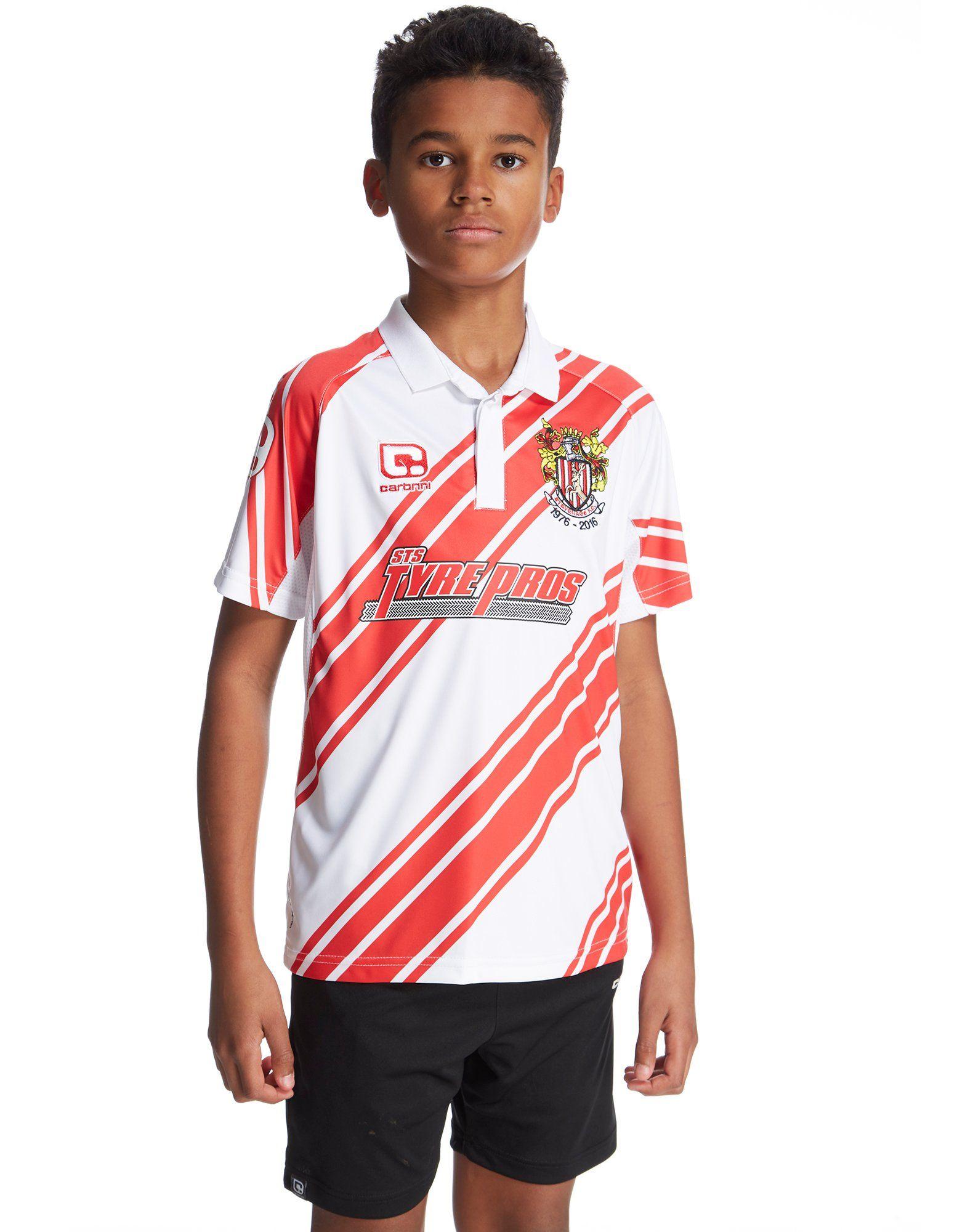 Carbrini Stevenage FC 2016/17 Home Shirt Junior