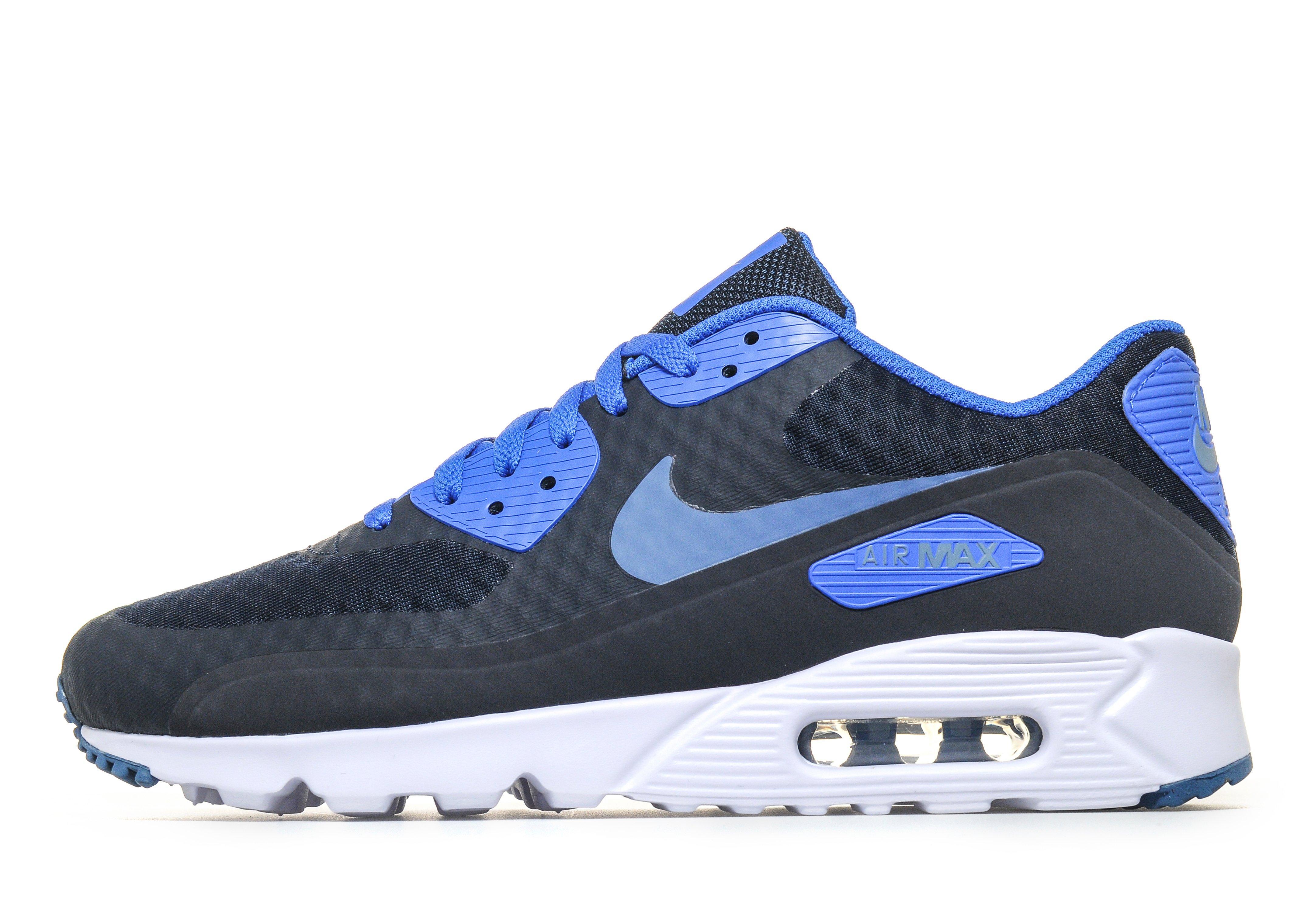blue and white air max 90