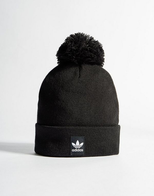 ... reduced adidas originals logo bobble hat c6832 6543d 2e88ab7a2de