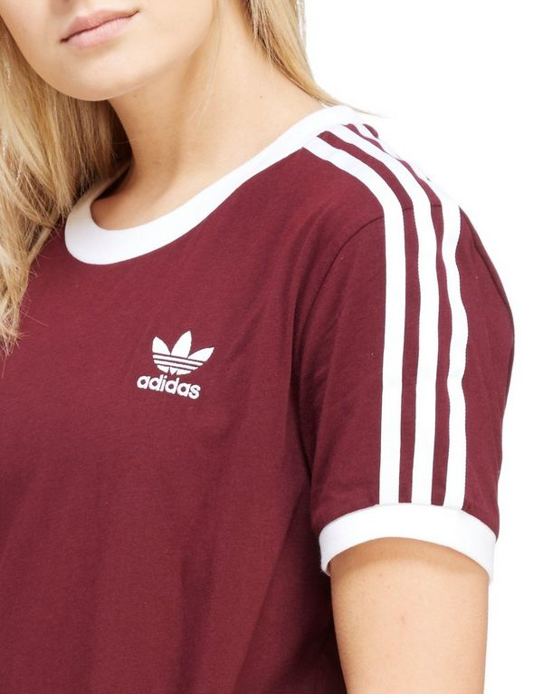adidas originals burgundy t shirt